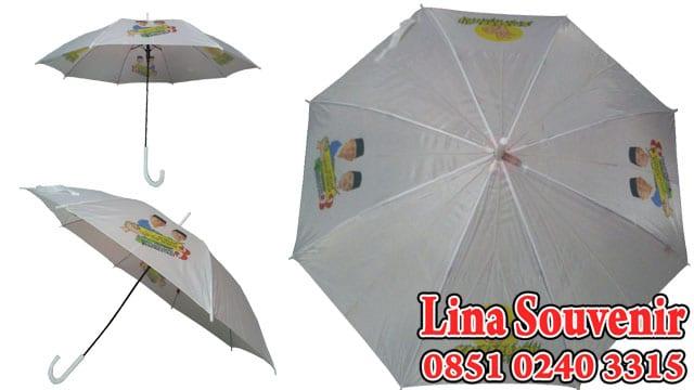 Payung Pilkada Putih untuk Souvenir Pemilihan Bupati Gubernur Presiden