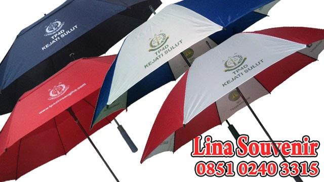 Payung Sablon Murah untuk Souvenir Kejati Sulut