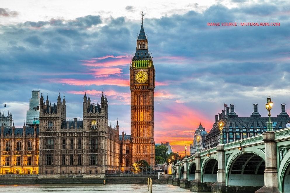 Big Ben Inggris Jam Dinding Terbesar di London