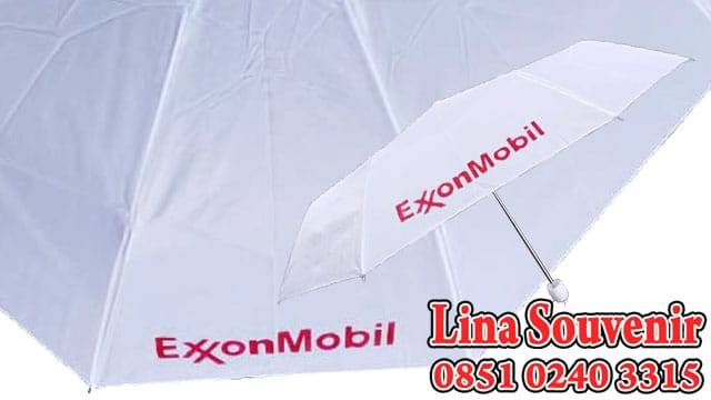 Souvenir Payung Lipat 3 Exxon Mobil