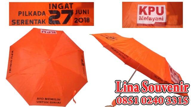 Souvenir Payung Lipat 3 KPU Sinjai